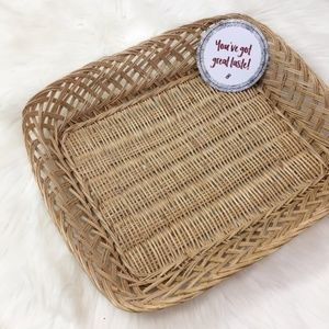 Wicker Home Decor Hold All Basket